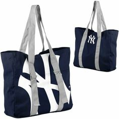 New York Yankees Big Logo Tote - Navy Blue
