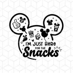 Disney SVG I'm Just Here For The Snacks Svg Disney World | Etsy Disney Shirts, Cricut Design, Google Images, Snacks, The Originals, Handmade Gifts, Christmas, Disney Stuff, Embroidery Ideas