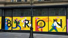Byron Newcastle Hoarding, illustration by Alec Doherty Bg Design, Signage Design, Banner Design, Event Design, Hoarding Design, Graphic Design Brochure, Billboard Design, Window Graphics, Wayfinding Signage