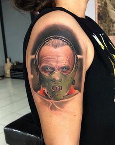 Lamb Tattoo, Tv Tattoo, Epic Tattoo, Amazing Tattoos, Book Tattoo, Arm Tattoos, Tattos, Hannibal Tattoo, Horror Movie Tattoos