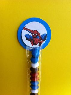 Spiderman Party Favors, quick, easy and cool! 50th Party, 6th Birthday Parties, Man Birthday, Birthday Ideas, Spiderman Theme Party, Superhero Party, Kate Spade Party, Little Man Party, Grown Up Parties