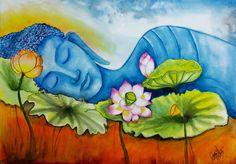 Artist Painting | Buy Sleeping Buddha by Somesh Badami@ Rs. 31490. Code:ART_SHBI01_1611 ...