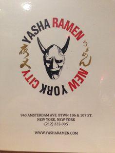 Yasha Ramen 940 Amsterdam btwn 106 and 107 - on walk home from #TC 212-222-2995