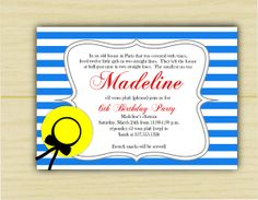 Madeline Birthday Invitation by executivecreations on Etsy, $20.00