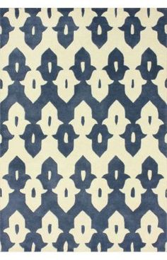 Rugs USA Tuscan Palace Ikat Trellis Cobalt Blue Rug (also see in other colors on website)