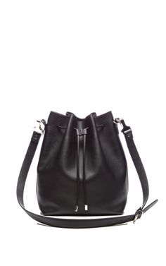 Large Bucket Bag In Black Leather by Proenza Schouler for Preorder on Moda Operandi