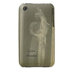 Vintage Alligator Hunt Photo c 1920s iPhone 3 Case.   30% OFF ALL CASES! www.leatherwooddesign.com #zazzle