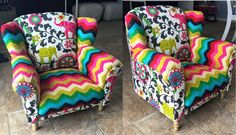Milani's child wingback chair I made from the frame up.