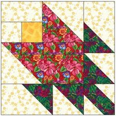 tulip quilt block pattern | ALL STITCHES - TULIP PAPER PIECING QUILT BLOCK PATTERN .PDF -057A ...