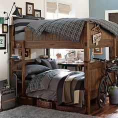 Full on full bunk beds for boys room.con algunos cambios