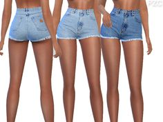 """sssvitlans: """" Created By Pinkzombiecupcakes Summer Blue Denim Jeans Shorts Cre… sssvitlans: """" Created By Pinkzombiecupcakes Summer Blue Denim Jeans Shorts Created for: The Sims 4 -available in 11 swatches -custom CAS thumbnail -hot and cold… The Sims 4 Pc, Sims 4 Teen, Sims 4 Cas, My Sims, Sims Cc, Short Outfits, Boho Outfits, Jean Outfits, Outfits For Teens"""