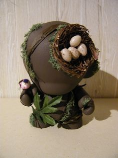 Birdnest Munny, 'Motherbird' by g's