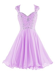 """Tideclothes Straps Beading Prom Dress Hollow Back Chiffon Homecoming Dress Lavender26Plus. Lovely sweetheart dress with beads, best for homecoming and party occasions. Please Use The Size Chart Image on the Left. Do not use Amazon's """"Size Chart"""" link. Custom Size Service available, if you have any questions about sizes or color, please feel free to contact us. Hand Wash Cold Hang Dry. Please be noted that the delivery date you saw is automatically set by Amazon system, sort like the…"""
