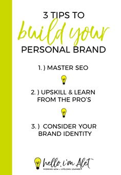 Brand Yourself   3 Tips to Build Your Personal Brand Self Branding, Personal Branding, You Gave Up, Note To Self, Never Give Up, Brand You, Business Ideas, Brand Identity, Dreaming Of You