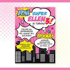 Personalizados imprimibles superhéroes niña por PartiPartieParty