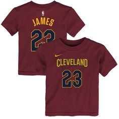 LeBron James Cleveland Cavaliers Nike Preschool Name   Number T-Shirt –  Maroon 200a64603