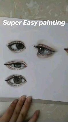 Cool Pencil Drawings, Art Drawings Sketches Simple, Realistic Drawings, Eye Drawings, Eye Drawing Tutorials, Art Tutorials, Easy Eye Drawing, Drawing Techniques, Art Painting Gallery