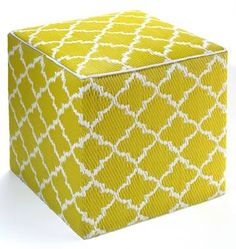 Tunisia Ottoman l Indoor Outdoor Ottomans l Ottomans and Poufs $125 from recycled prolypropylene bags Ecochic
