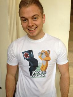Poop attack shirt on David Spencer (IBallisticSquid)