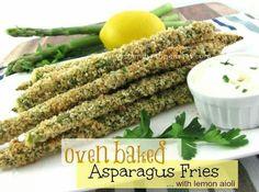 Oven baked asparagus friez