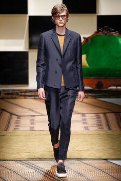 Wilhelmina Models: Blake S for Salvatore Ferragamo, MFW S/S '16 - See more at: wilhelminanews.com