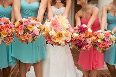 Seriously, my flowers were AMAZING!!  Jessica + Hugh Wedding  Photo By Amanda Hedgepeth Photography