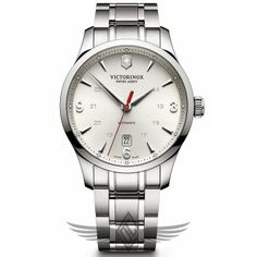 Victorinox Swiss Army Alliance Mechanical 40mm Steel Bracelet Silver Dial Automatic Watch 241667 - #OCWatchCompany #SwissArmy #WatchStore #WalnutCreek