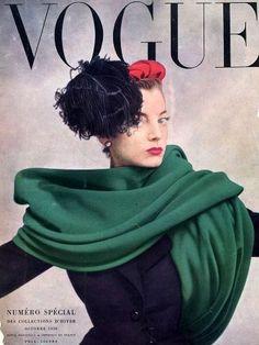 Regine Debrise de Balenciaga, Vogue edición francesa Oct. 1950, fotografía de Irving Penn.