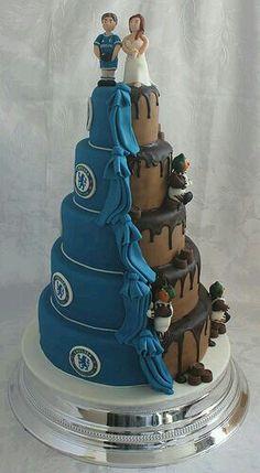 Chelsea-Chocolate wedding cake, he will love it !