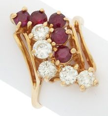 Estate Jewelry:Rings, Diamond, Ruby, Gold Ring. ...