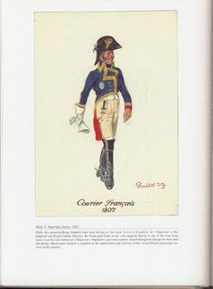Command and staff: Plate 5: Imperial Courier, 1807.