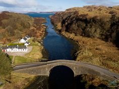 "Clachan Bridge - Argyll, Scotland - The ""Bridge over the Atlantic"" , opened 1793, spans 72ft & is 39ft high, links the west coast of the Scottish mainland with the island of Seil. The Clachan sound connects at both ends to the Atlantic Ocean."