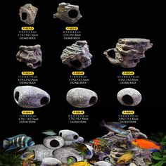 Cichlid Stones Ceramic Aquarium Rock Cave Decoration For Fish Tank