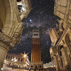 площадь Сан-Марко в Венеции- её ночной вариант...