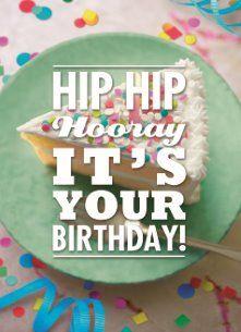 Verjaardagskaart vrouw - jarig-party-hip-hooray-birthday