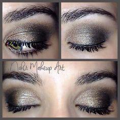 Maquillaje en tonos cobre ideal para un evento de tarde/noche realizado integramente con la Naked 1 de Urban Decay