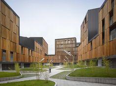 Социальное жильё в Мьерес (Mieres Social Housing) в Испании от Zigzag Arquitectura.
