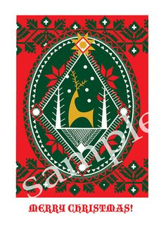 Ukrainian Pysanky Christmas card by cwagenblass9 on Etsy, $12.00
