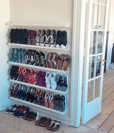 shoe storage shoes storage ideas, shoe organization for small space, shoes closet, cheap storage ideas Closet Shoe Storage, Diy Shoe Rack, Shoe Storage Cabinet, Storage Cabinets, Shoe Closet Organization, Wall Shoe Rack, Storage For Shoes, Shoe Rack For Small Closet, Shelves For Shoes