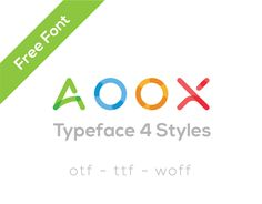 Vedi questo progetto @Behance: \u201cAOOX || Free Typeface 4 Styles\u201d https://www.behance.net/gallery/52112889/AOOX-Free-Typeface-4-Styles