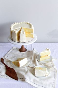 peach lemon layer cake
