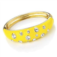 Minerva Collection Crystal Hinged Fashion Bangle Gold  Yellow  Price : £9.00 http://www.minervacollection.com/Minerva-Collection-Crystal-Hinged-Fashion/dp/B008AWBMMU