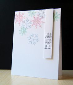 Let It Snow Card by Cristina Kowalczyk for Papertrey Ink (September 2012)