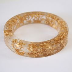 acrylic and gold-flecked bracelet