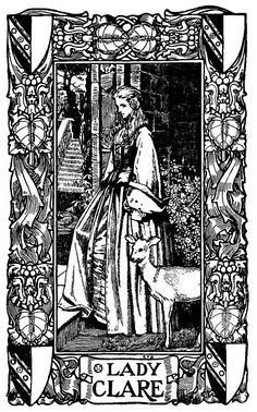 """Poems by Alfred Lord Tennyson"" illustration by Eleanor Fortescue-Brickdale. (1871 – 1945)"