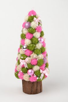 Christmas tree Homemade Christmas gifts ideas Handmade Christmas presents for home Decorative tree Topiary Exclusive New year tree - pinned by pin4etsy.com