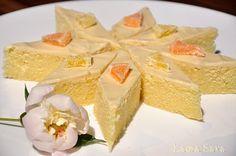 Prajitura cu lamaie - Laura Sava Bread Baking, Vanilla Cake, Feta, Food To Make, Bakery, Good Food, Favorite Recipes, Sweets, Cheese