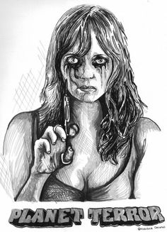 Pen & ink By the Caswell Twins Http://www.facebook.com/vanashartwork #realism #inkdrawing #sharpiedrawing  #draw #greyscale #movie  #filmart #dynamicduos #realisticdrawing #spooky #scary #horror #horrorfilm #drip #blood #planetterror #needle