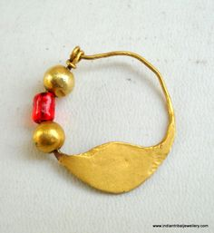23k gold nose ring