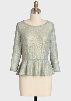 Ice Folly Shimmer Lace Top, $36